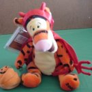 "Tigger Halloween Devil Beanie Stuffed Plush 7"" 2000 Tag"