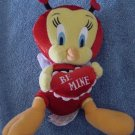 "Tweety Bird Be Mine Red Bug Stuffed Plush 7"" Amscan"