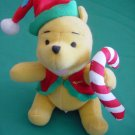 "Winnie Pooh Bear Candy Cane Stuffed Plush 5"" Applause"