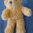 "Soft Orange Curly Fur Beanie Bear Stuffed Plush 5"""