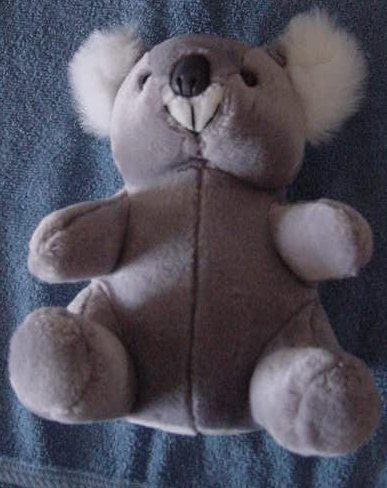 "Steven Smith Gray Chubby Koala Bear Stuffed Plush 8"""