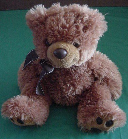 "Aurora Floppy Brown Bear Stuffed Plush 9"" Soft"