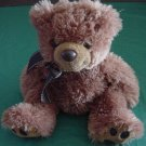 "Aurora Floppy Brown Bear Stuffed Plush 9"" Soft"