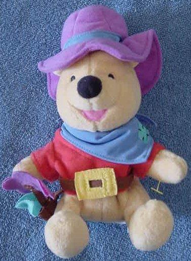 "Pooh Bear Cowboy with Flower Holster Stuffed Plush 7"""