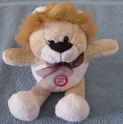 "Preferred Plush Roaring Mini Lion Stuffed Plush 5"""