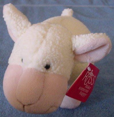 Russ Berrie Cute White Sheep Lamb Stuffed Plush Tag