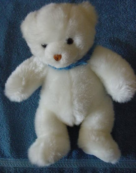 "Little Brownie Original White Bear Stuffed Plush 8"""