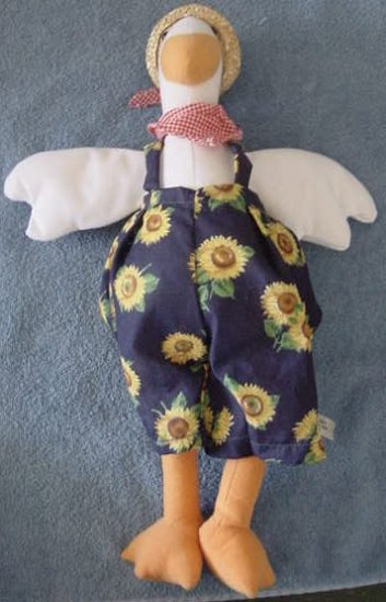 """One Stop Toy White Goose Sunflower Stuffed Plush 17"""""""