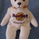 Hard Rock Cafe Hollywood Bear Beanie Stuffed Plush 8""