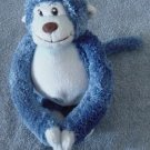 It's All Greek to Me Velcro Hands Monkey Stuffed Plush Blue Chubby