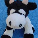 Kellytoy Horned Cow Stuffed Plush Beanie White Black