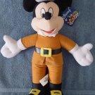 "Disney Mickey Mouse Pilgrim Stuffed Plush 15"" Tag"