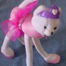 "Barbie Ballerina TuTu White Cat Stuffed Plush 10"" 2001"