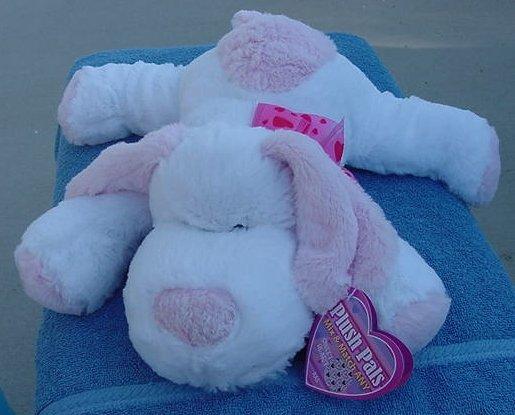 Best Made White & Pink Floppy Squishy Dog Stuffed Plush Tag