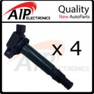 NEW IGNITION COIL ON PLUG SET OF 4 **FITS 4cyl TOYOTA