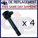 NEW IGNITION COIL ON PLUG **set of 4 **FITS CIVIC 1.7L