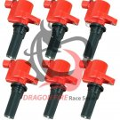 DRAGON FIRE PERFORMANCE IGNITION COIL 6PC SET **FITS 2000-2005 LS S-TYPE 3.0L V6