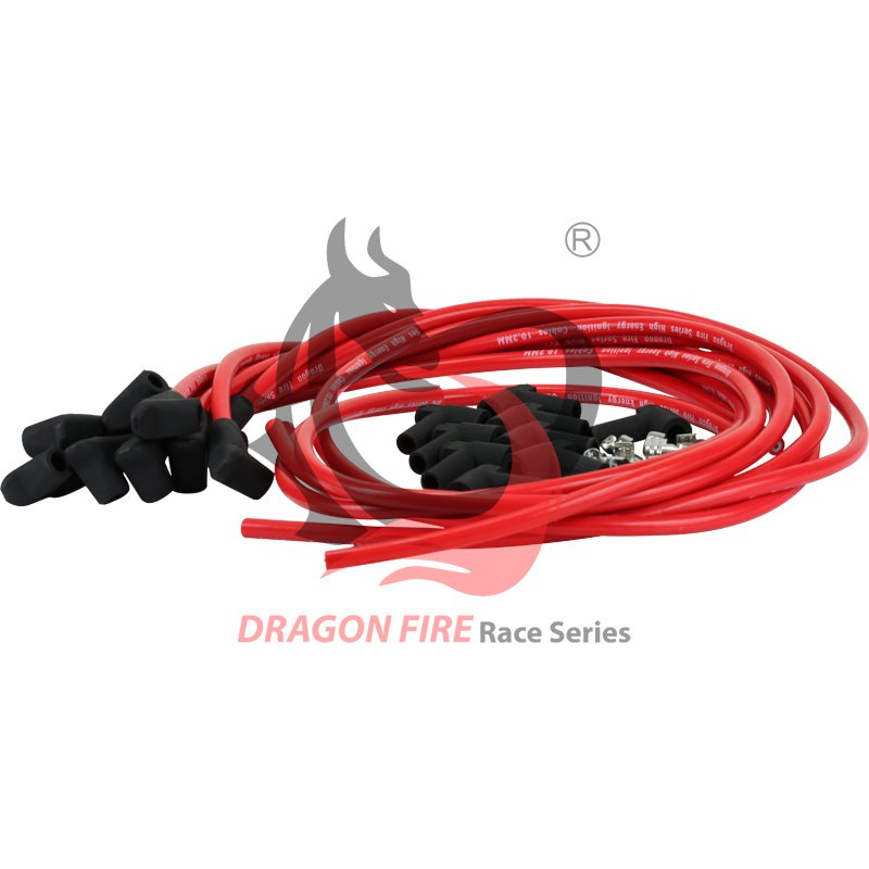 Brand New Dragonfire Cut to Length HEI 10.2mm SBC BBC Spark Plug Wires Complete Set  PW90ADJ-DF