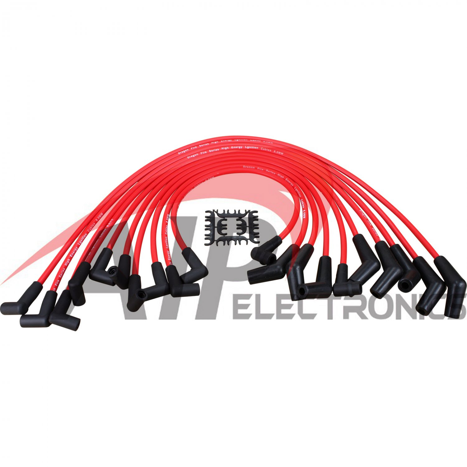 Performance Spark Plug Wires For 1983-1997 Mustang Bronco 5.0L 5.8L 302 351W 460