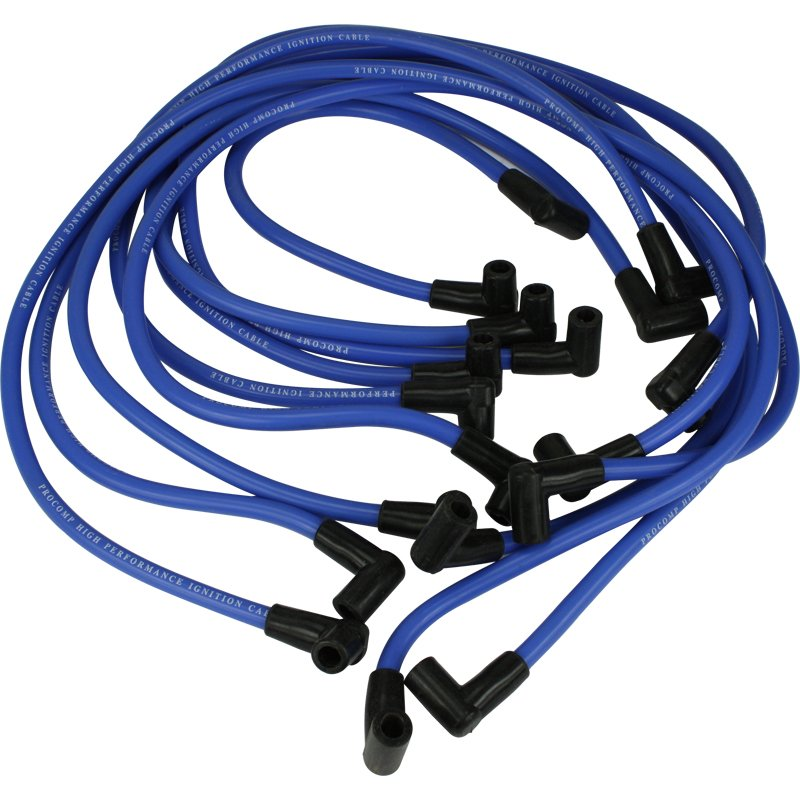 Brand New Procomp Blue Universal HEI Style 90 Degree Boot Spark Plug Wires for Chevrolet SBC BBC Inl