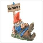ON STRIKE GARDEN GNOME