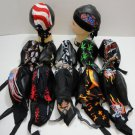 Wholesale Lot (6) Leather Like Doo Rags Skull Caps New!