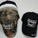 Wholesale Lot (6)  Protected By The 2ND Amendment Mens Hat Embroidered Ball Cap New w/Tags