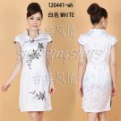 Chinese clothing qipao Embroidered dress gown 120441 white size 30-38 in stock free shipping