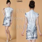 chinese gown dress qipao cheongsam wedding 120445 grey china size 30-36 in stock  free shipping