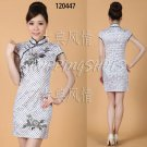 chinese dress qipao Embroidered cheongsam 120447 white china size 30-36 in stock