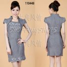 chinese dress qipao Embroidered cheongsam 120448 black china size 30-36 in stock