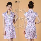 chinese dress qipao V Collar Embroidered cheongsam 120449 china size 30-36