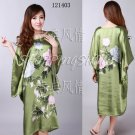 Chinese gown bathing dress bathrobe bedgown 121403 green one size only in stock