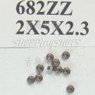 100pcs 682 ZZ Miniature Bearings ball Mini bearing 2x5x2.3 2*5*2.3 mm 682Z 682ZZ