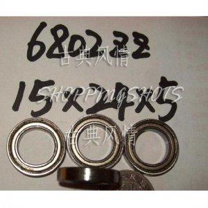 1 pcs thin 6802-2Z ZZ bearings Ball Bearing 6802ZZ 15X24X5 15*24*5 mm 6802Z Z