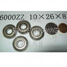 100 pcs 6000-2Z ZZ Deep Groove Ball Bearing Quality 10x26x8 10*26*8 mm 6000Z 6000ZZ free shipping