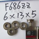 (10) F686ZZ 6x13x5 Flanged 6*13*5 mm F686Z Miniature Ball Radial Bearing F686 Z free shipping