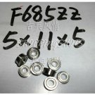 10pcs F685ZZ 5x11x5 Flanged 5*11*5 mm F685Z Miniature Ball Radial Bearing F685 ZZfree shipping
