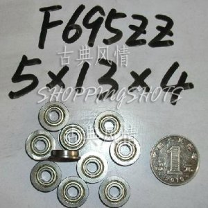 (10) F695ZZ 5x13x4 Flanged 5*13*4 mm F695Z Miniature bearings Bearing F695 ZZ 2Z freeshipping