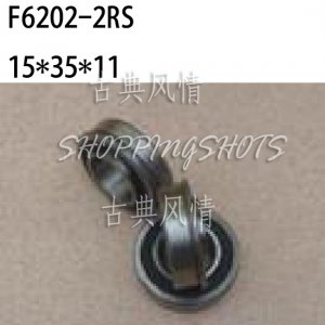 10pcs F6202 RS 15x35x11 Flanged 15*35*11 mm F6202RS Miniature bearings Bearing 2RS