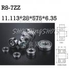 10pcs R8-7 ZZ 11.113*28.575*6.35 mm Bearing Miniature Ball Radial Bearings R8-7ZZ free shipping