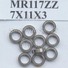 (100pcs) MR117 MR117Z Miniature Bearings ball Mini bearing 7X11X3 mm 7*11*3 MR117zz free shipping