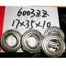 10pcs 6003-2Z ZZ Deep Groove Ball Bearing ABEC1 17x35x10 7*35*10 mm 6003ZZ ABEC1  free shipping