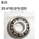 "1pcs R16 open 1 x 2 x 3/8"" english inch Bearing Miniature Ball Radial Bearings  free shipping"