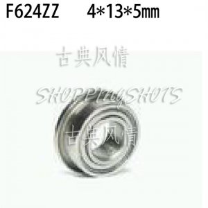 10pcs F624ZZ 4x13x5 Flanged 4*13*5 mm F624Z Miniature Ball Radial Bearing F624 ZZ  free shipping