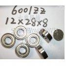(10pcs) 6001-2Z ZZ Deep Groove Ball Bearing Quality 12x28x8 12*28*8 6001Z 6001ZZ  free shipping