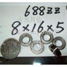 (10) 688-2Z ZZ Deep Groove Ball Bearing 8x16x5 Quality 688Z 688ZZ 8*16*5 mm  free shipping