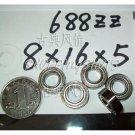 (100) 688-2Z ZZ Deep Groove Ball Bearing 8x16x5 Quality 688Z 688ZZ 8*16*5 mm  free shipping