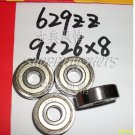 100pcs 629-2Z ZZ Deep Groove Ball Bearing Quality 9x26x8 ABEC 13*26*8 mm 629Z 629ZZ  free shipping