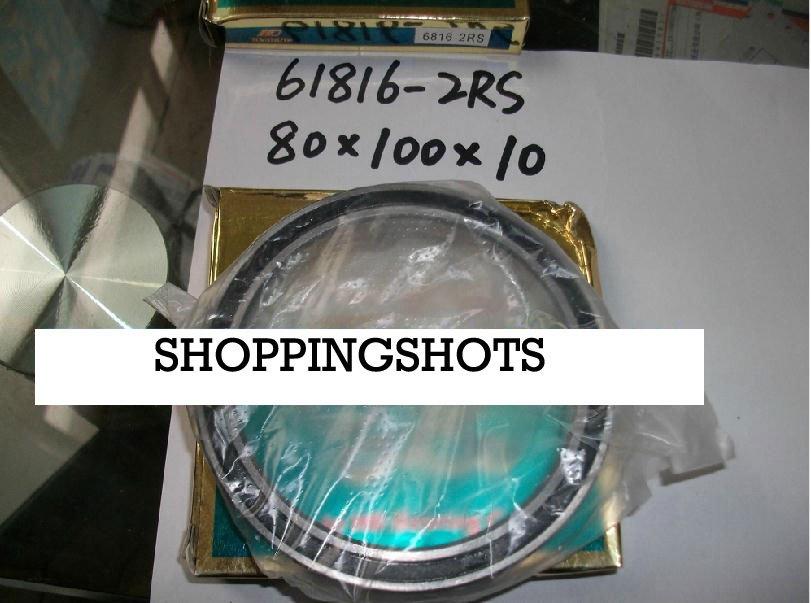 10pcs thin 6816-2RS 6816 RS bearings Ball Bearing 6816RS 80X100X10 80*100*10 mm free shipping